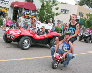 A lot of interesting floats appeared at this year's Berthoud Day parade.  Rudy Hemmann/ the Surveyor