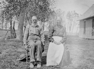 Charles and Harriet Keirnes came to the Little Thompson Valley and established a homestead near Twin Mounds in 1880. Upon their retirement from farming, they moved to a house at 549 Fifth St. in Berthoud. Photo courtesy of the Ludlow Collection/Berthoud Historical Society