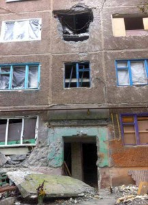 Sails of Hope children's home in Sloviansk was destroyed in a bombing.