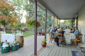 Folks enjoy the Farm to Table dinner at the Berthoud Inn on Oct. 25. The event was hosted by Berthoud Local and focused on all organic, locally grown foods. May Soricelli / The Surveyor