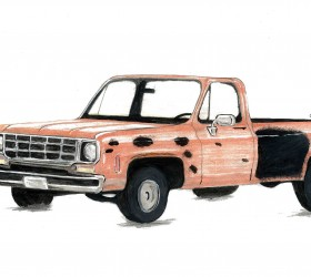Investigators are seeking the public's help in locating a 1970s model, full-size, single cab Chevrolet or GMC pickup truck. The pickup is one color, faded orange, and has a large spot of black primer on the driver's side body, behind the driver's door. The truck is described to have a full-size bed, possibly a 1973-1979 model GM pickup with round headlights.  Courtesy of Larimer County Sheriff's Office