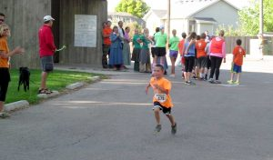 Aiden Smyre, 6, finished second in his age group at the Fall Family Fun Run on Sunday. Proceeds from the event go toward health and wellness programs at Berthoud schools.