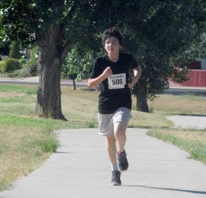 Carlos Gutierrez, an eighth grader at Turner Middle School, placed fourth overall in the Fall Family Fun Run on Sunday. Proceeds from the event go toward health and wellness programs at Berthoud schools.