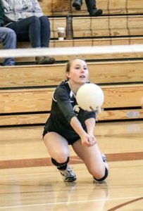 Berthoud libero Haley Hummel leads the state in class 4A in digs with 650 and is one of the reasons for the teams strong performance in recent weeks.  Paula Megenhardt / The Surveyor