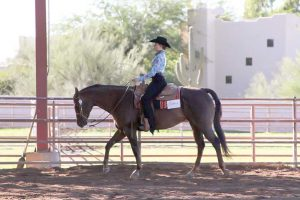 Berthoud Equestrian member Elana TerAvest participates in the Horsemanship class at the Interscholastic Equestrian Association show in Scottsdale, AZ the last week of November. Photo courtesy of Jan Guynn