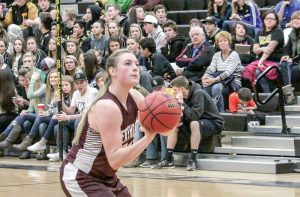 Berthoud's Taylor Armitage steps to the line during the Spartans' 58-57 victory over Thompson Valley in Loveland on Dec. 18. Karen Fate / The Surveyor