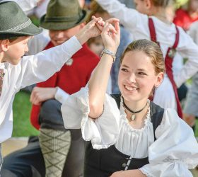 The Chalet Dancers entertain Oktoberfesters with a traditional dance during the fifth annual Berthoud Oktoberfest in Fickel Park. Surveyor file photo