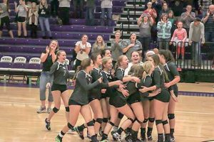 Berthoud Spartans celebrate their victory at the 4A Region 8 championships at Mountain View High School in Loveland on Nov. 4. The Spartans capped a great season with the regional championship and now head into the state tournament as the No. 8 seed. The Spartans face No. 1 seed Lewis-Palmer Friday.  Paula Megenhardt / The Surveyor