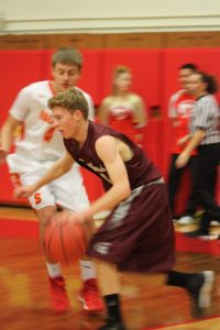 Berthoud Curtis Peacock makes a move during the game versus Skyline on Jan. 6.  Angie Purdy/ the Surveyor
